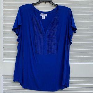 Liz Claiborne Royal Blue Short sleeve 1X